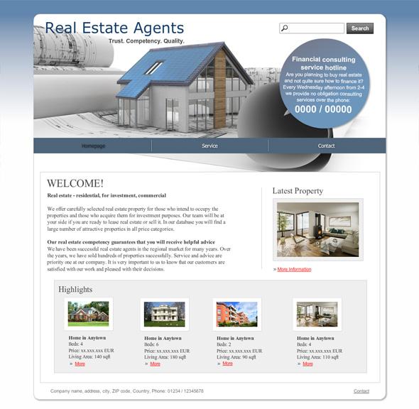 81 best real estate website templates templatemonster