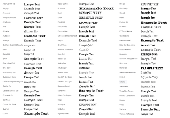 fifty new html5 compatible fonts now available for your website